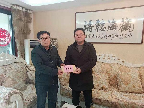 维扬中学情系支教教师 隆冬慰问暖人心