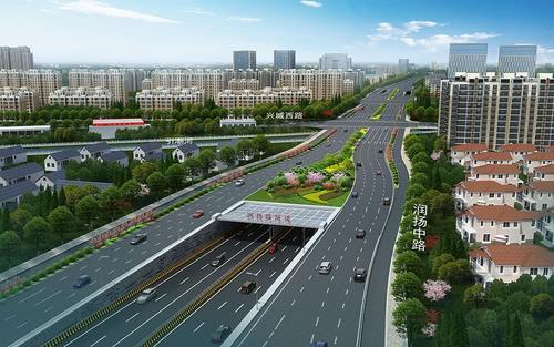 润扬路快速化最高跨完成浇筑确保通道路全线畅通