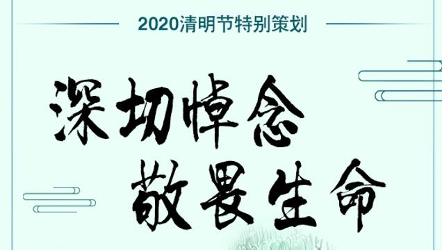 【网络中国节•清明】深切悼念 敬畏生命