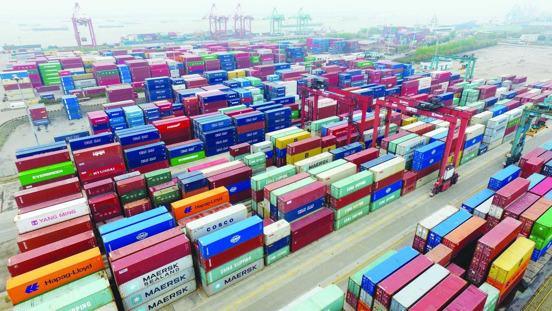 扬州沿江码头集装箱吞吐量等回升