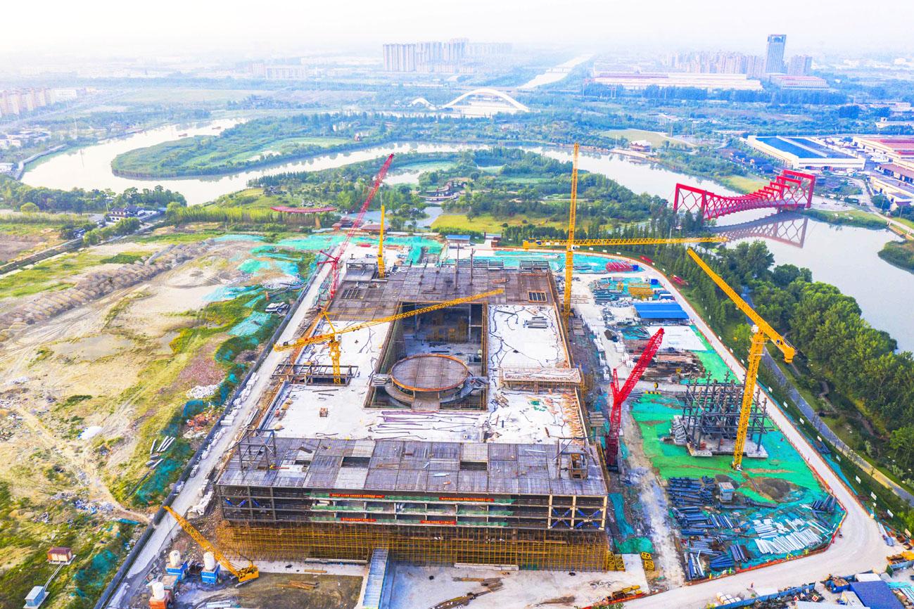 中国大运河博物馆有序施工