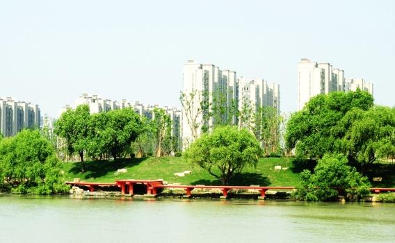江扬大桥两岸成游园