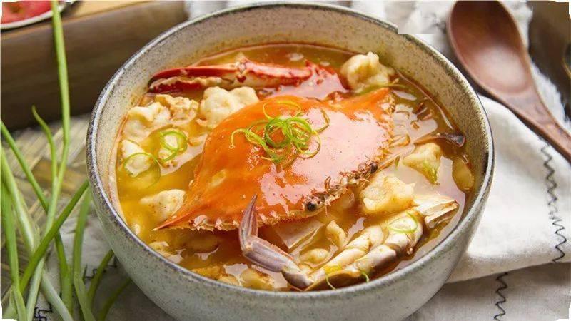 蟹味疙瘩汤,鲜香美味!