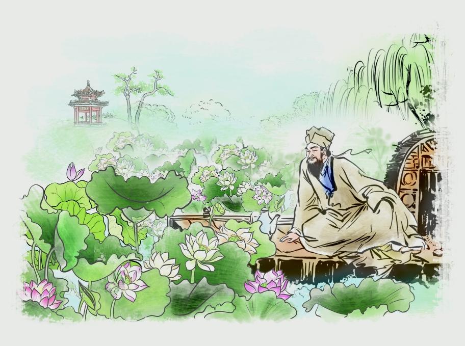 欧阳修与邵伯湖荷花