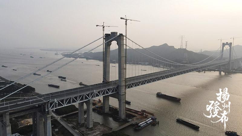 五峰山长江大桥开通在即 系我国首座公铁两用悬索桥