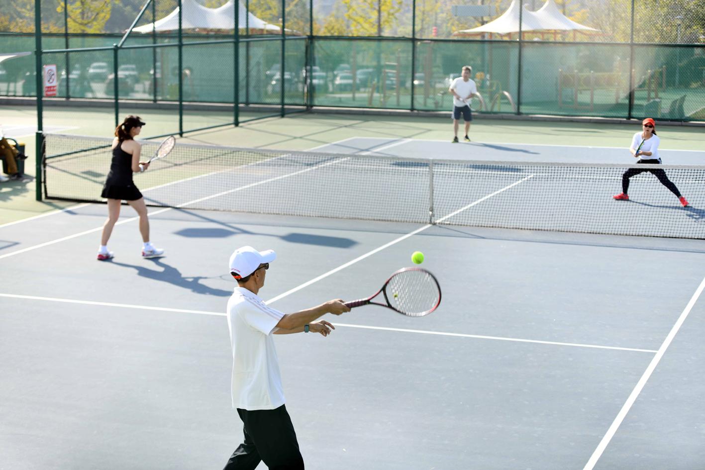 扬州再迎高规格赛事省全民健身运动会网球赛开幕