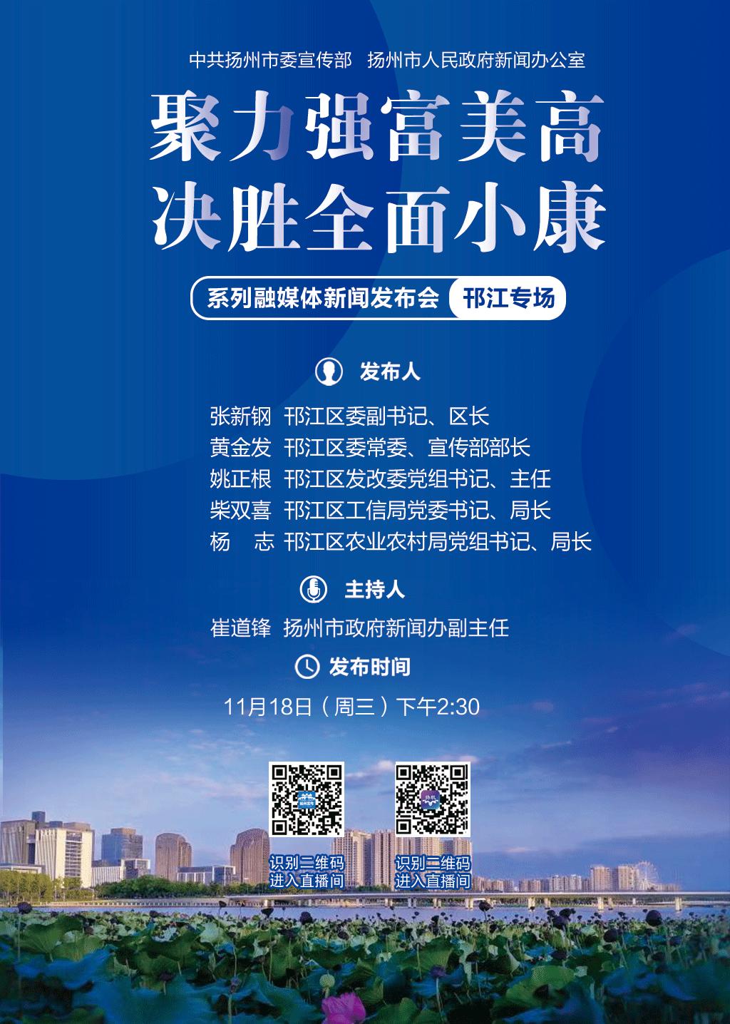 """""""聚力强富美高 决胜全面小康""""邗江专场"""