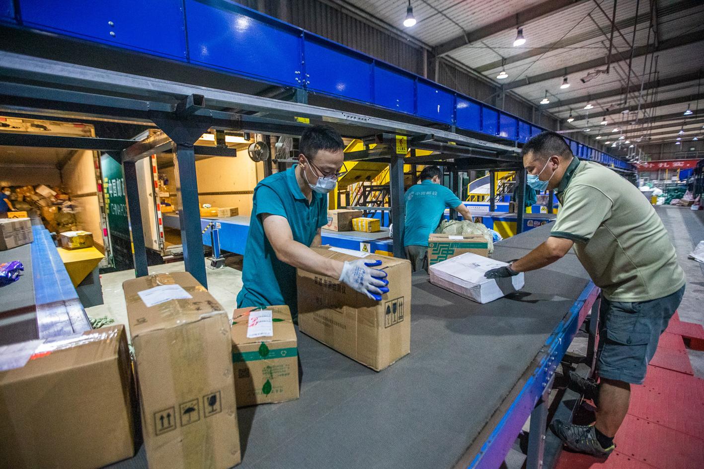 扬州邮政保证重要物资的运输