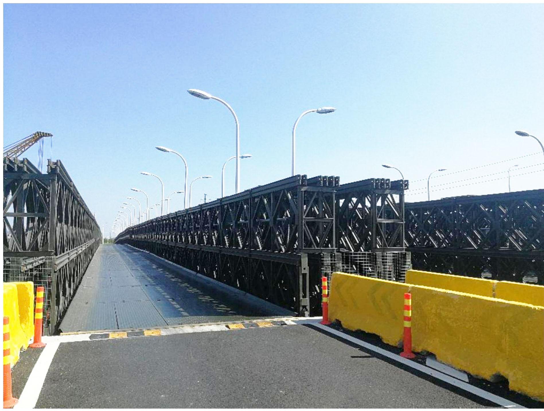 山河岛临时便桥本周开建可实现双向机非通行