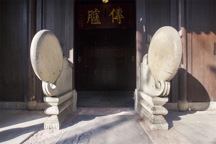 扬州大宅门的抱鼓石