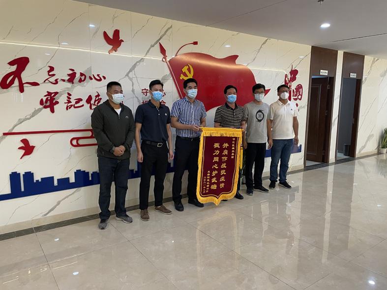 """邗江城建公司 抗疫当好""""顶梁柱""""发展做好"""